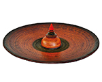 Contained Space, Red, 55cm diameter