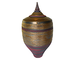 Red and Gold Templetop Jar, 73cm x 38cm