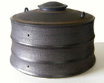 Black lidded container